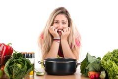 Kulinarny stres Fotografia Royalty Free