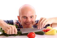 kulinarny szalony mężczyzna Obrazy Stock