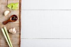 Kulinarny tła pojęcie fotografia stock