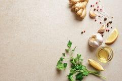 Kulinarny tło z przestrzenią dla teksta Obrazy Stock