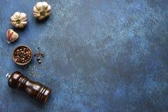 Kulinarny tło z składnikami i wsparciami dla gotować Odgórny v obraz royalty free