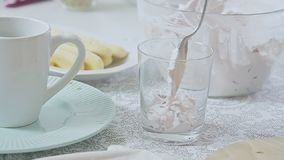 Kulinarny truskawki tiramisu zbiory