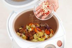 Kulinarny wołowina gulasz z warzywami Fotografia Royalty Free