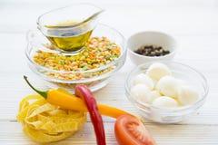 Kulinarny zdrowy karmowy pojęcie Zdjęcia Royalty Free