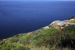Kullaberg Sweden. Picturesque unspolit nature in south of Sweden Kullaberg area, with steep sea cliffs and unique biodiversity Royalty Free Stock Image