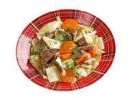 Kullama. kokt kött med nudlar Royaltyfri Foto