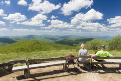 Kullar av Bieszczady berg Royaltyfri Foto