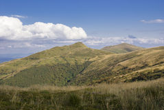Kullar av Bieszczady berg Royaltyfri Fotografi