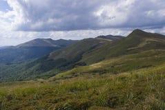 Kullar av Bieszczady berg Royaltyfri Bild