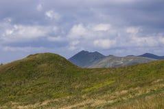 Kullar av Bieszczady berg Royaltyfria Bilder