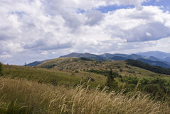 Kullar av Bieszczady berg Arkivbild