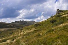 Kullar av Bieszczady berg Fotografering för Bildbyråer