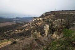 Kullar i Krim nära Bakhchisarai Krim Royaltyfri Fotografi