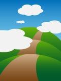 Kullarna och molnen Arkivfoton
