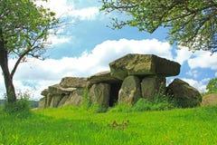 Kulle allvarliga Mougau-Bihan, Brittany, Frankrike Arkivfoto