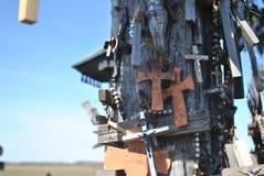 Kulle av kors, Šiauliai, Litauen Royaltyfri Fotografi