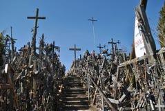 Kulle av kors, Šiauliai, Litauen Arkivbilder