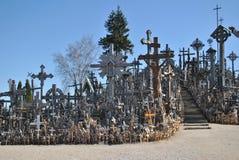Kulle av kors, Šiauliai, Litauen Arkivfoto