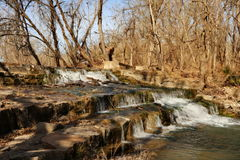 Kulleland Texas Waterfall Royaltyfri Bild
