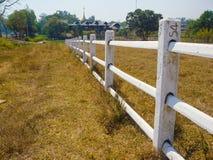 Kullen parkerar staketet Arkivbilder