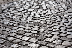 Kullerstenstenväg Arkivfoto