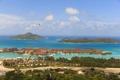 Kullesikt i Seychellerna Arkivfoton