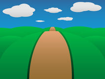 kullväg till Royaltyfri Bild