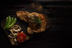 Kulobutalapje vlees op het hout Royalty-vrije Stock Afbeelding