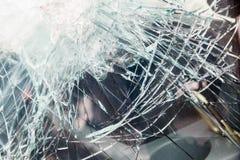 Kuloodpornego szkła samochód po strzelaniny zdjęcia stock
