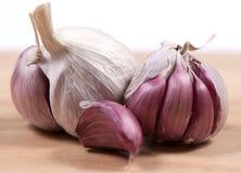 Kulor av purpurfärgad vitlök Royaltyfria Bilder