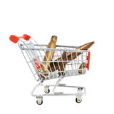 Kulor i en shoppingvagn Fotografering för Bildbyråer