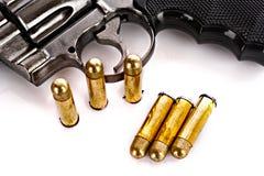 Kulor och revolver Royaltyfri Fotografi