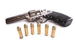 Kulor och revolver. Royaltyfri Foto