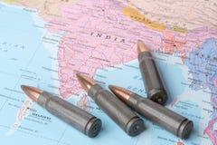 Kulor på översikten av Indien Royaltyfri Bild