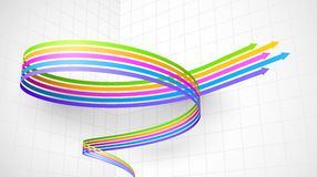 Kulör spiral pil 3D Arkivfoton