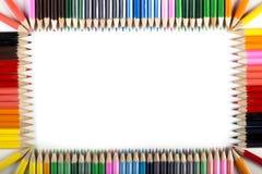 kulöra blyertspennor för abstrakt kant Arkivfoto