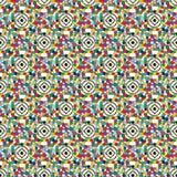 Kulöra cirklar och fyrkanter på en ljus bakgrundsvektorillustration Arkivbilder