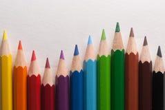kulöra crayons Royaltyfria Bilder