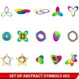 kulöra set symboler för abstrakt begrepp Fotografering för Bildbyråer