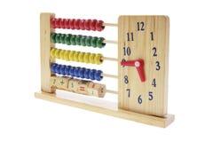 kulrambarn clock trä Arkivbild