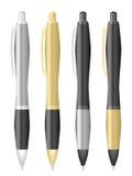 Kulspetspennauppsättning vektor illustrationer