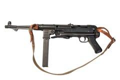 Kulsprutepistol MP38/40 på vit bakgrund fotografering för bildbyråer