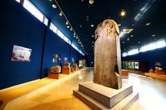 KULTEGIN MEMORIAL COMPLEX, MONGOLIA - JULY 2013: orkhon inscriptions royalty free stock photos