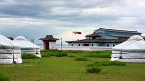 KULTEGIN'S MEMORIAL COMPLEX, MONGOLIA - JULY 2013: outside of the museum Royalty Free Stock Images