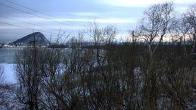 Kultuchnayameer in het centrum van de stad van Petropavlovsk-Kamchatsky in oostelijk Rusland stock videobeelden