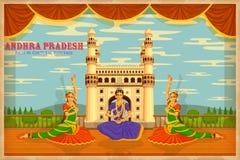 Kultur av Andhra Pradesh vektor illustrationer