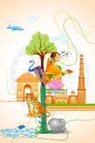 Kultur av Indien vektor illustrationer