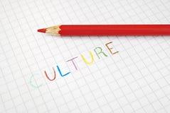 Kultur farbiges Schreiben Lizenzfreie Stockfotografie