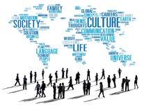Kultur-Gemeinschaftsideologie-Gesellschafts-Prinzip-Konzept Stockbild