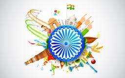 kultur india royaltyfri illustrationer